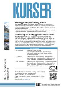 Kursinbjudan SBP-N 2013