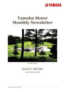 Yamaha Motor Monthly Newsletter No.6(June.2013) Golf Cars