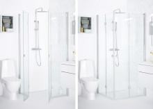 Den nye dusjveggserien SYNC fra INR – perfekt for bad med begrenset plass