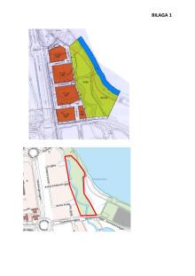 Karta över området Limnologen Syd och Geometriparken
