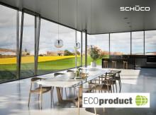 Schüco med miljødokumentasjonen ECOproduct