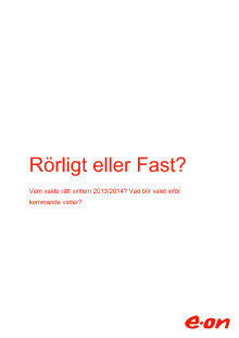 """E.ONs rapport """"Rörligt eller Fast?"""""""