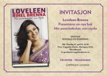 Velkommen til lansering av Loveleen Rihel Brennas nye bok