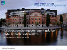 Ipsos extramätning om regeringskrisen: Byte av parti i extravalet?