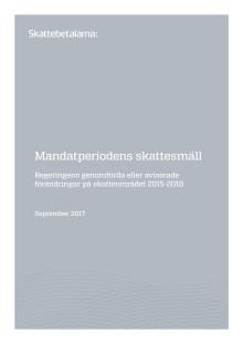 Mandatperiodens skattesmäll 2014-2018