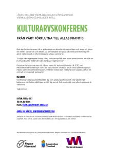 Program och anmälan - Kulturarvskonferens 16 maj