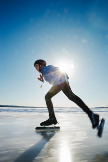 Runn Winter Week 3-19 februari 2012, vinterfest på snö och is med rafflande skridskotävlingar