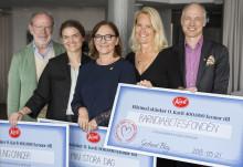 Kavli delar ut 400 000 kronor till Barndiabetesfonden