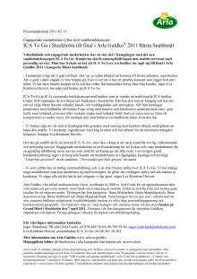 ICA To Go i Stockholm till final i Arla Guldko® 2011 Bästa Snabbmål