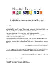 Nordisk Designskola startar utbildning i Stockholm