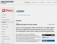 Bolagsanalys - Cherry AB