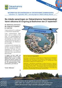 Nyhetsbrev 15 - sanering av Oskarshamns hamnbassäng