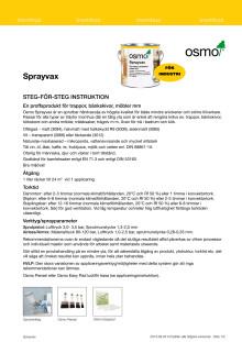 Steg för steg instruktion Osmo  Sprayvax