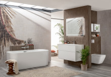 Look up in your bathroom – premium surface finishes in the Villeroy & Boch furniture collection