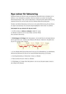 Nya rutiner för fakturering
