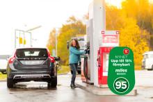 Circle K lanserar bensin med upp till 15 procent förnybart innehåll