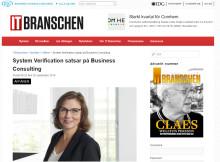 IDG IT.Branschen skriver om System Verifications satsning inom Business Consulting