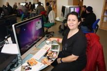 Stadsbiblioteket, Lärcentrum: Kreativt skrivande, distansstudier, reklamproduktion, dyslexiföreläsning, läxhjälp och språkträning