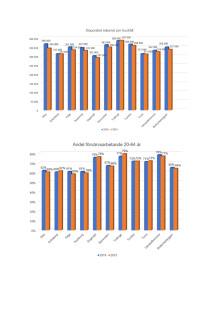 Diagram Botkyrkabyggen disponibel inkomst och förvärvsarbete