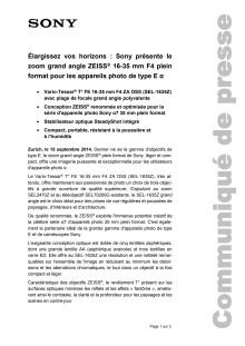 Communication de presse_Objectif SEL-1635Z_F-CH_140915