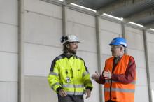 Bygge med flyt i Halmstad hamn