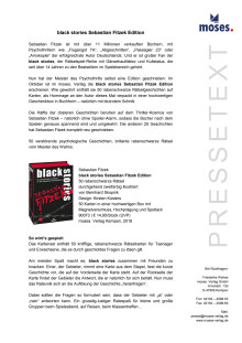 black stories Sebastian Fitzek Edition - Pressetext
