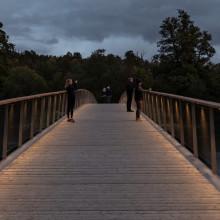 Nu invigs Folke Bernadottes bro med belysning från Fox