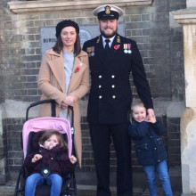 Chief Naval Petty Officer and colleagues fundraise on board HMS Westminster to thank The Sick Children's Trust