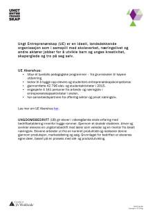 Fakta Ungt Entreprenørskap Akershus