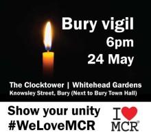Tonight's vigil at Whitehead Gardens, Bury