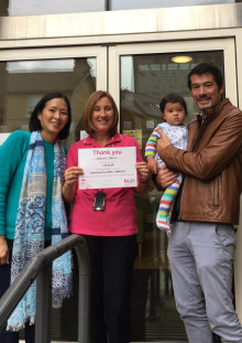 Dad walks marathon and raises £3,625 for The Sick Children's Trust who supported them after birth of baby son
