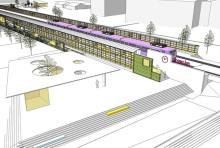 Hammerglass bygger bullerskärmar och väderskydd i nya Rosengård station
