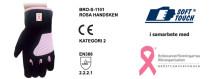 Rosa arbetshandsken från Soft Touch AB till stöd för Bröstcancerfonden