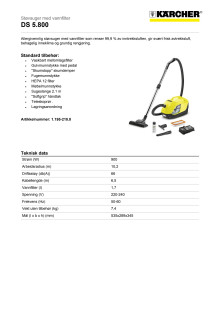 Produktdatablad Kärcher DS 5.800