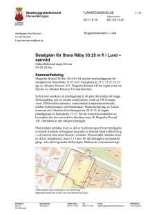 Tjänsteskrivelse - Detaljplan för Södra Råbylund
