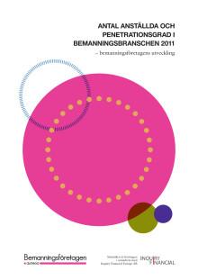 Antal anställda och penetrationsgrad i bemanningsbranschen 2011