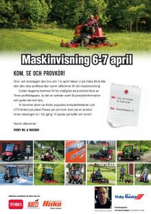 Maskinvisning 6-7 april hos Visby Maskin på Gotland.