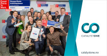 CatalystOne Solutions kåret som 3. bedste arbejdsplads i Norge