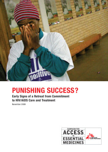 Punishing success in tackling AIDS