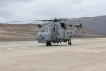 First Ever Rotary-Wing Aircraft Lands at St Helena Airport
