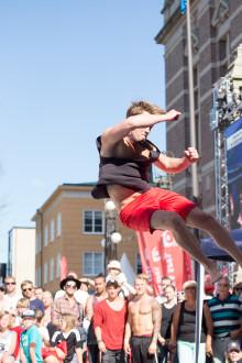 Jonatan Petersson ifrån Jönköping segrade i SM i tricking 2016