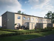 Nu monteras de första bostadsrätterna i Karlslund, Landskrona!