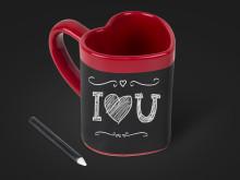 Love Heart Message Mug