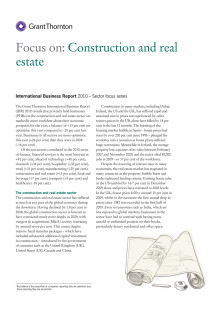 Construction and Real Estate - en branschrapport