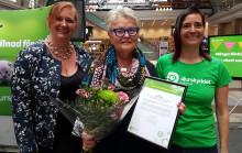 2017 års hedersutmärkelse för särskilda insatser för djuren till Eva Eriksson