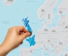 Scratch Map Europa