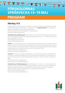 Program språkveckan 2017