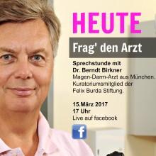 Heute um 17 Uhr auf facebook: Erste LIVE-VIDEO-Sprechstunde