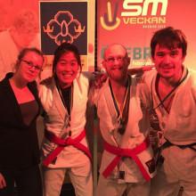Ett guld, ett silver och två brons till IKSU i SM i jujutsu