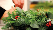 Bind din egen julkrans i sex enkla steg